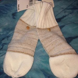 Michael kors mittens new with tags white /brown